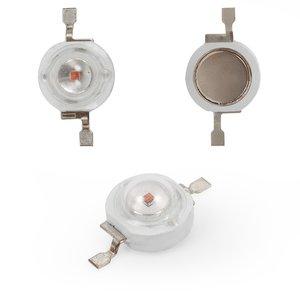 LED 1 W (yellow, 50 lm, 590 nm, 350 mA, 3.2-3.4 V)
