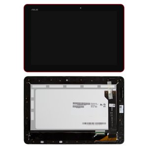LCD for Asus MeMO Pad 10 ME102A Tablet, (red, with touchscreen, with frame) #B101EAN01.1/MCF-101-1856-01-FPC-V1.0