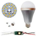Juego de piezas para armar lámpara LED SQ-Q24 5730 E27 9 W – luz blanca cálida