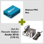 Medusa PRO Box + Estación de soldadura de aire caliente Accta 301A (110 V)