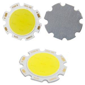 COB LED модуль 3 Вт (холодный белый, 250 лм, 28 мм, 300 мА, 9-12 В)