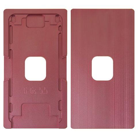 Фіксатор дисплейного модуля для мобільних телефонів Apple iPhone 6 Plus, iPhone 6S Plus, алюмінієвий, для приклеювання скла в рамці